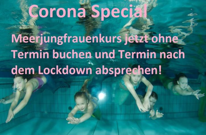 Corona Gutschein-Meerjungfrauen-Schnupperkurs ohne festen Termin